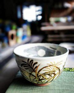 すすき ススキ 芒 薄 茶碗 抹茶碗 原清和